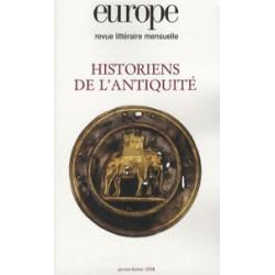 Revue littéraire Europe : Historiens de l'Antiquité : Table of contents
