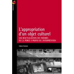 L'appropriation d'un objet culturel DE Fabien Dumais / CHAPITRE 1