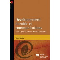 Développement durable et communications sous la direction de Sophie Tremblay : Chapitre 1