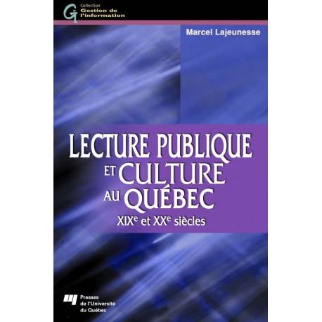 Lecture publique et culture au Québec / CHAPITRE 6