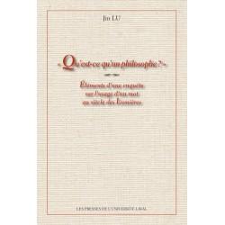 Qu'est-ce qu'un philosophe ? de Jin Lu : Partie 1