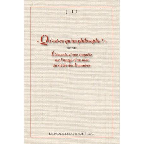 Qu'est-ce qu'un philosophe ? de Jin Lu : Sommaire