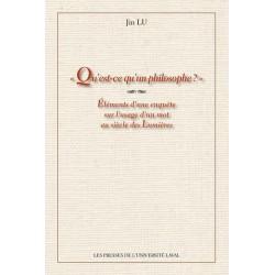 Qu'est-ce qu'un philosophe ?  de Jin Lu : 1.Chapitre 1