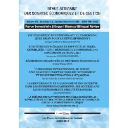 Revue africaine Sciences économiques et Gestion n° 1 et 2 : Sommaire