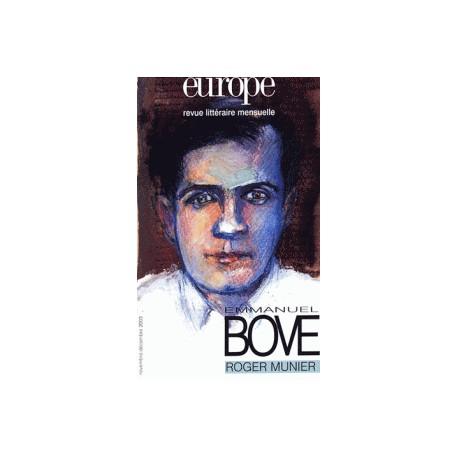 Revue Europe : Emmanuel Bove : Chapitre 1