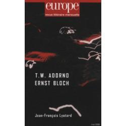 Theodor. W. Adorno et Ernst Bloch : Sommaire