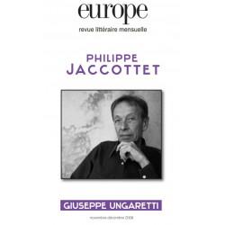 Revue Europe : Philippe Jaccottet : Chapitre 1