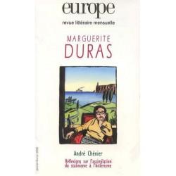 Revue Europe : Marguerite Duras : Sommaire