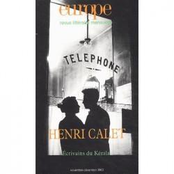 Revue littéraire Europe : Henri Calet : Sommaire