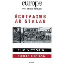Revue littéraire Europe : Les écrivains du Stalag : Sommaire