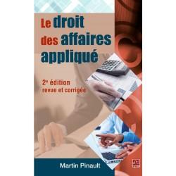 Le droit des affaires appliqué de Martin Pinault: Chapitre 5