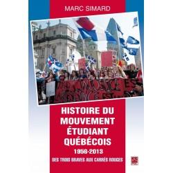 Histoire du mouvement étudiant québécois 1956-2013. Des Trois Braves aux carrés rouges, de Marc Simard : Sommaire